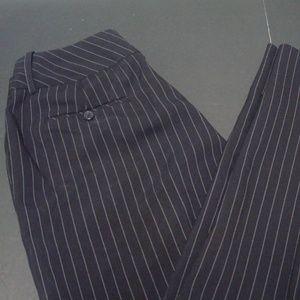 Larry Levine Pin Striped Dress Pants Sz 6 Black
